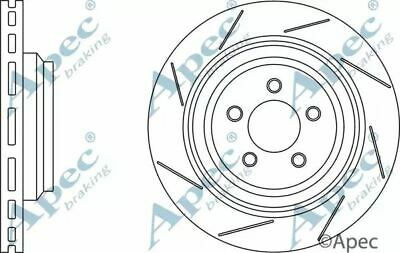 Pair 1x OE Quality Replacement Rear Axle Apec Vented Brake Disc 5 Stud 299mm