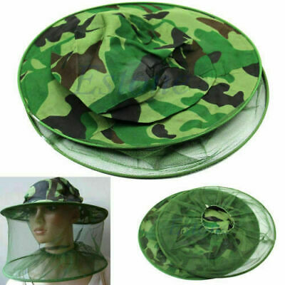 Outdoor Practical Head Face Protector Cap Hat Mosquito Bug Insect Bee Net Mesh