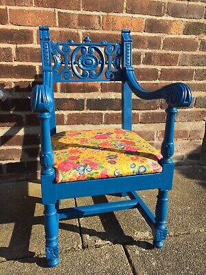 Petite Antique Vintage upcycled wooden Ladies Chair