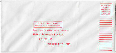 HELENA RUBINSTEIN cosmetics advertising commercial cover business reply