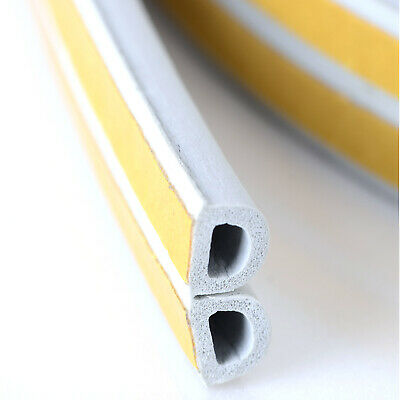 10m Draught Draft Proof Excluder D Shape Seal for windows and doors Self Adhev