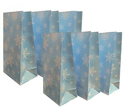 Snowflake Pick and Mix Bags Christmas Party Candy Large Thick Paper Sweet Bag