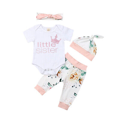 NEWBORN BABY CLOTHES Little Big Sister Brother T-Shirt