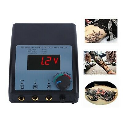 2 Types Professional LCD Digital Stainless Steel Tattoo Power Supply Tool US