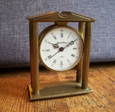 Vintage French Armand Leroy Solid Brass Carriage Clock (8 Day Alarm Feature)