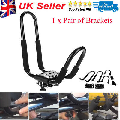 Universal Roof J Bars Rack Kayak Boat Canoe Car SUV VAN Load Capacity: 100kg UK