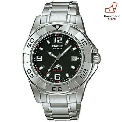 NEW Casio 200M Silver Watch Analog Model Mdv-100D-1AJF Men's DIVER from Japan FS