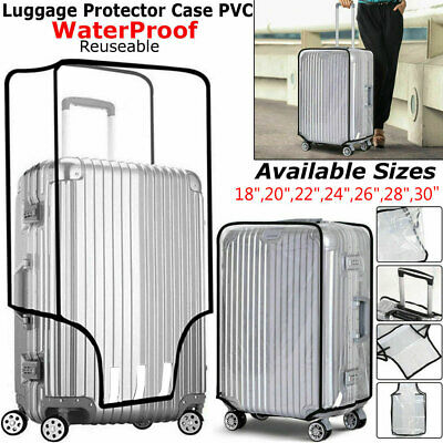 """Waterproof Clear Transparent Luggage Suitcase Cover Case Protector Travel 18-30"""""""