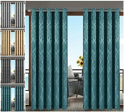 Thermal Insulated Blackout Window / Indoor / Outdoor Ring Top Ready Made Curtain