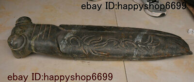 Collect Old Chinese Hongshan Culture Stone Carved Cicada Cicale Cicadidae Statue