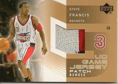 2002-03 Upper Deck UD Game Jerseys Patch Numbers #2 #SFP Steve Francis