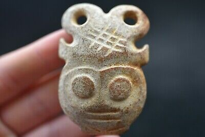 Ancient Chinese Hongshan culture jade carved amulet A401