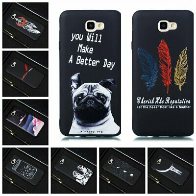 For Samsung Galaxy J2 J5 J7 Prime 2016 Soft Silicone Painted TPU Back Case Cover