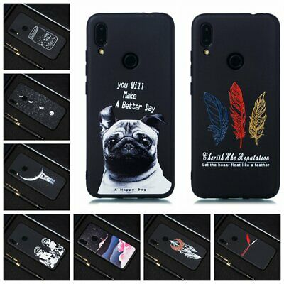 For Xiaomi Redmi Note 7S 7 Pro 6 5 4 Soft Silicone Painted TPU Back Case Cover