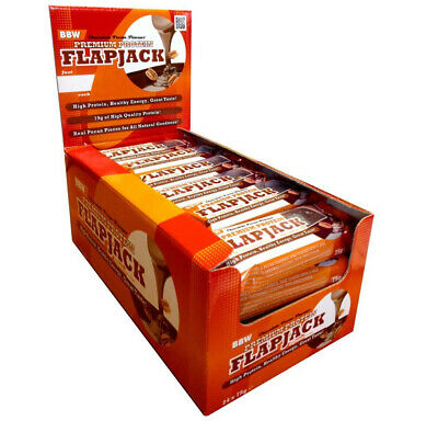 Premium High Protein Flapjack Bars Low Sugar Rolled Oats Bars x 24 Dated Feb 19