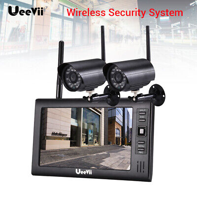 """Wireless Security IP Camera System 7"""" Monitor Screen Recorder HD Outdoor Audio"""
