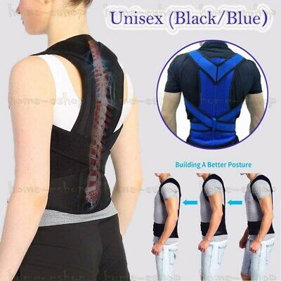 Women Men Posture Corrector Body Brace Bad Back Lumbar Shoulder Support Belt UK