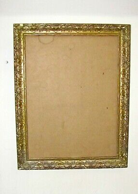 Vintage ANTIQUE 12x16 GOLD GILT PICTURE FRAME GESSO ORNATE FINE ART Decor