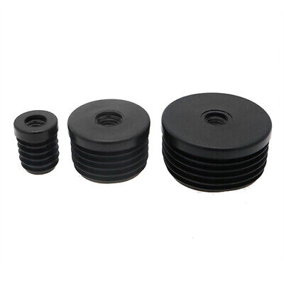 10 Pack Round Plastic Threaded Tube Inserts 18mm - 50mm M10 Thread, Tube Inserts