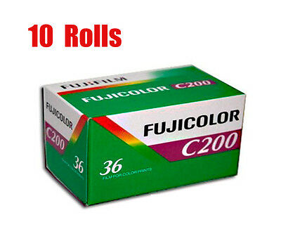 10 Rolls Fuji  Fujifilm Color C200  35mm 135-36 Color Print Film Fresh 2022