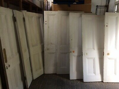 Matching Set Of Reclaimed Antique Victorian 4 Panelled Pine Doors