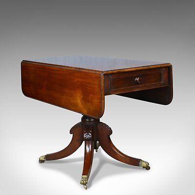 Antique Pembroke Table, Mahogany, English, Regency, Drop Flap, Circa 1820