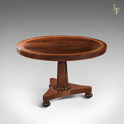 Antique Breakfast Table, William IV Rosewood Tilt Top