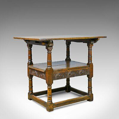 Antique Monk's Bench, Metamorphic Table, Chair, English Oak, C18th and Later