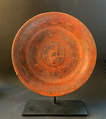 Mayan Monkey Burial Plate~ Pre-Colombian 750-950 AD