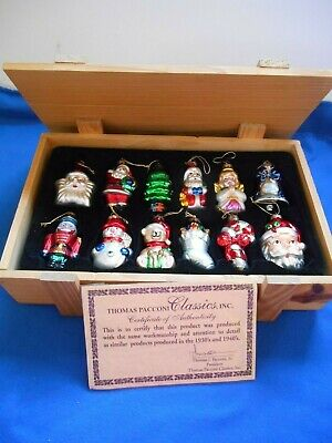 2002 Collection 36 Thomas Pacconi Classics Blown Glass Tree Ornaments In Factory