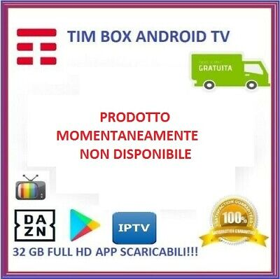 Decoder Tim Box 2019 Vision Timvision Dvb-T2 4K Android 32Gb Wifi Nuovo