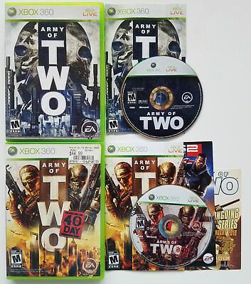 @@@ Microsoft Xbox 360 Live Army Of Two & The 40Th Day Rpg Video Game @@@