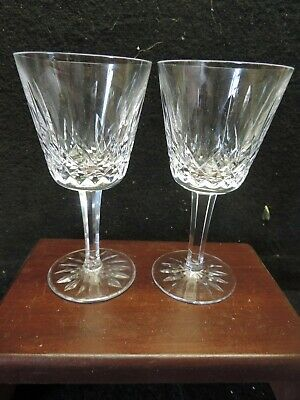 Waterford Lismore 2 Wine Goblets 6' Mint