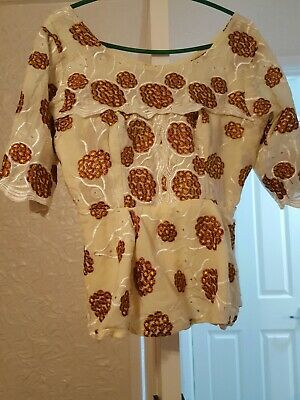 African lace Blouse and Wrapper