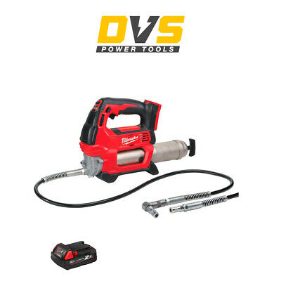 Milwaukee M18GG-0 18v Grease Gun 1 x 2Ah Battery M18B2