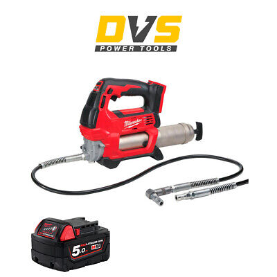 Milwaukee M18GG-0 18v Grease Gun 1 x 5Ah Battery M18B5