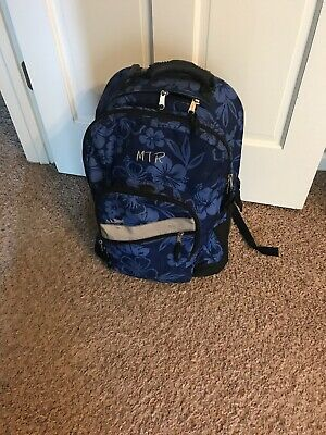 fb0ad77af1792 Gently Used LL Bean Rolling Deluxe Bookbag Backpack Hawaiian Extendable  Handle