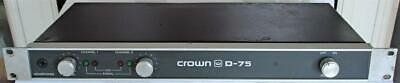 Crown D-75 Stereo Power Amplifier Made In Usa Nice