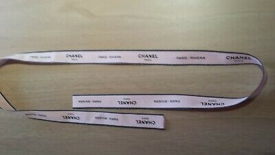 """Chanel Ribbon Ivory Nude colour with Paris Riviera approx 81cm x 2cm or 32"""" BN"""