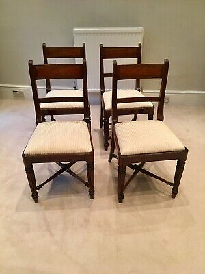 4 Antique Regency Mahogany Dining Chairs