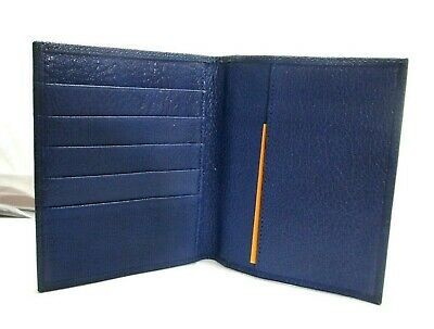 Graphic Image Leather Passport Wallet NEW Blue