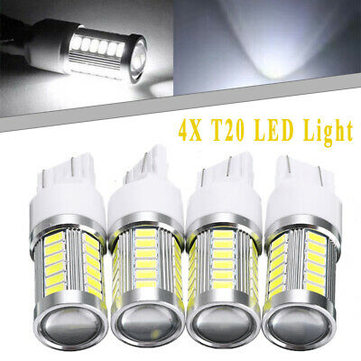 4X T20 7440 7443 W21W 33SMD LED Canbus No Error Car Reverse Brake Light White