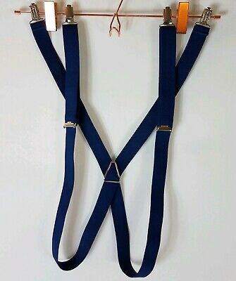 Patagonia Navy Blue Adjustable Strap Suspenders For Hiking Climbing Snowpants