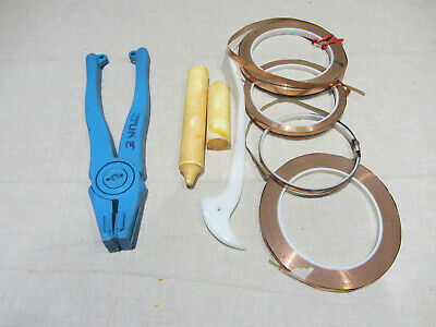 stained glass tools and metal accessories used