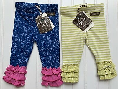 f1c81d3d05bb1 Matilda Jane Baby Girls Ruffle Make Believe Leggings Lot Bundle Size 3-6  Months