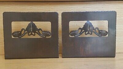 Craftsman Studios Hammered Cutout Copper Bookends Arts & Crafts Stickley Era