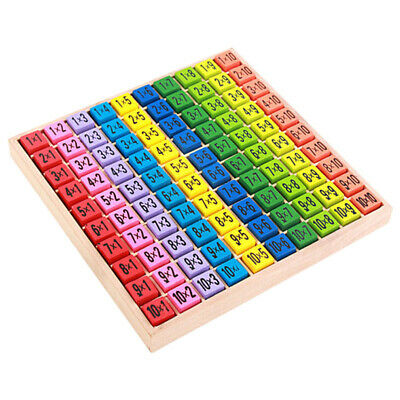Children Wooden Early Educational Toy 99 Multiplication Table Math Toy 10*10  SU