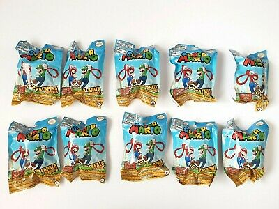 New Super Mario Backpack Buddies Buddy Clip x10 Packets ( Sealed) Job Lot