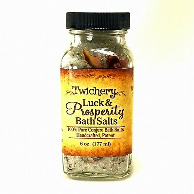 LUCK & PROSPERITY BATH SALTS, Wealth, Gambling, Luck, Success Pagan Hoodoo Wicca