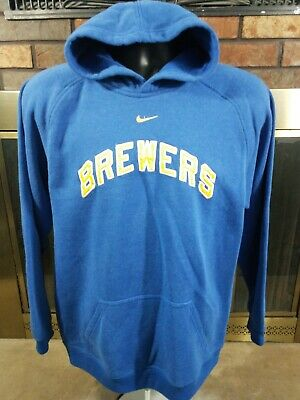 hot sale online b26cc 6e6bd VINTAGE STITCHES MILWAUKEE Brewers MLB Baseball Hooded ...